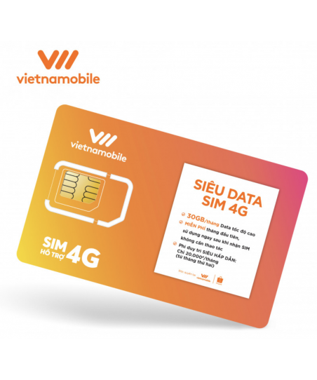 COMBO 30 SUPER DATA SIM 4G VIETNAMOBILE- BUY 20...