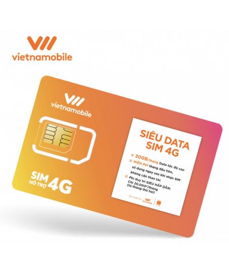 COMBO 150 SUPER DATA SIM 4G VIETNAMOBILE- BUY...
